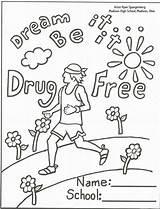 Coloring Ribbon Week Drug Drugs Say Sheet Printable Anti Adults Popular Pdf Coloringhome sketch template