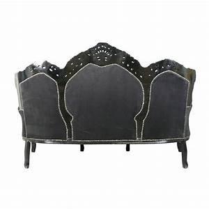 Canapé Baroque Pas Cher : canap baroque en velours noir meubles baroques ~ Teatrodelosmanantiales.com Idées de Décoration