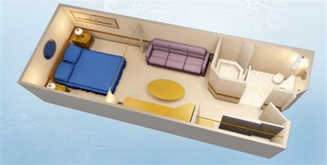 Disney Cruise Line Staterooms - Standard Inside Stateroom