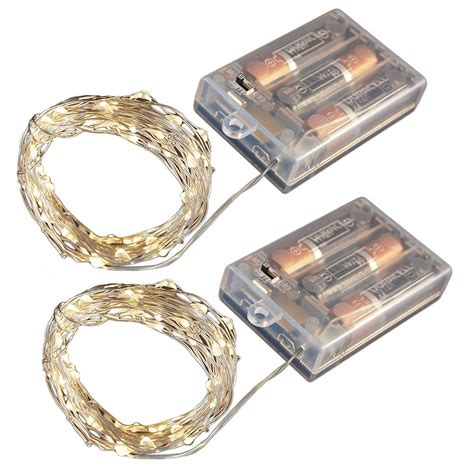 battery operated string lights with timer lumabase battery operated led waterproof mini string