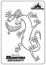 Coloring Randall Monsters Printable Pdf Inc Pixar Drawing Disney Books sketch template