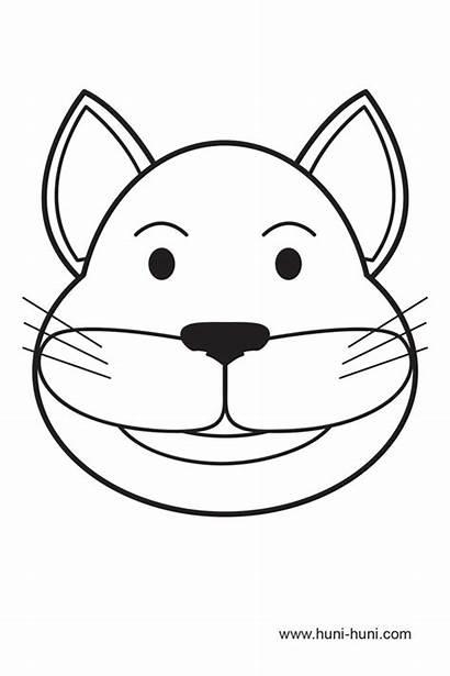 Cat Mask Iring Maskara Nga Outline Coloring
