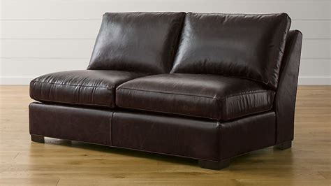 Armless Leather Loveseat by Axis Ii Leather Armless Sleeper Sofa With Air