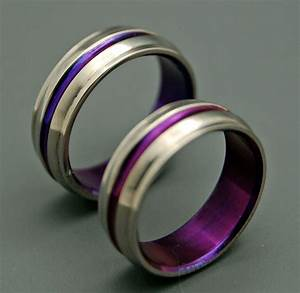 titanium wedding bands wedding rings titanium rings purple With purple wedding ring