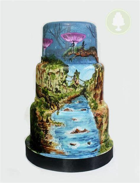 avatar pandora cake  handpainted recipes pinterest