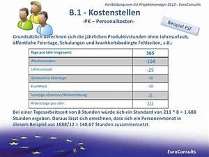 Jahresurlaub Berechnen : fortbildung zum eu projektmanager drittmittel referenten ~ Themetempest.com Abrechnung