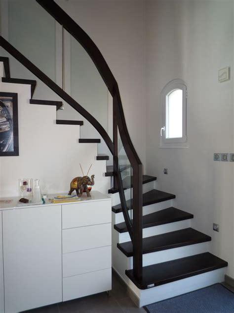 habillage escalier en b 233 ton avec garde corps rant