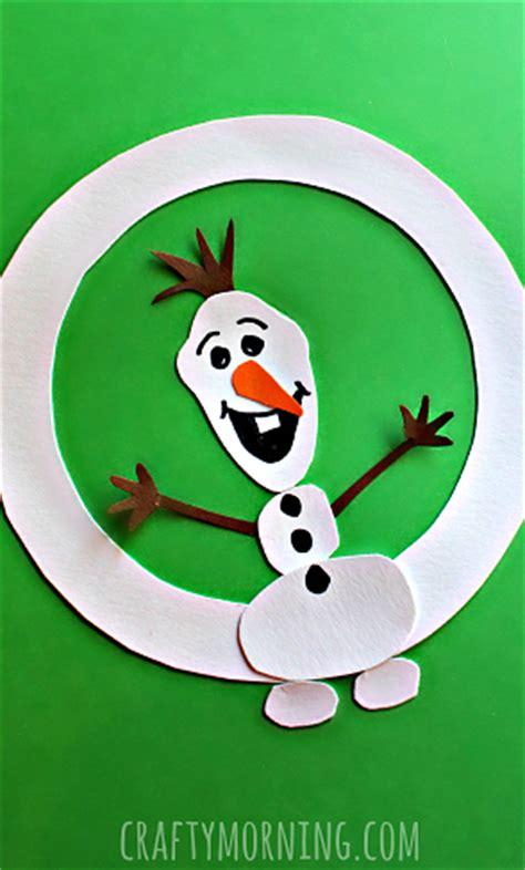 o is for olaf winter alphabet craft for crafty 833 | o is for olaf winter kids craft