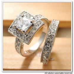 cz engagement rings white gold wedding ring alloy white gold plated cz zirconia rings set square engagement classic