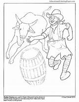 Rodeo Coloring Pages Clown Clowns Bull Riding Books Bucking Roping Team Animal Insane Posse Birthday Printable Drawing Colouringpages Printables Getcolorings sketch template