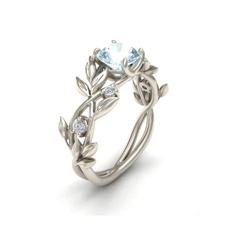 fashion silver color flower vine leaf design rings for ring vintage