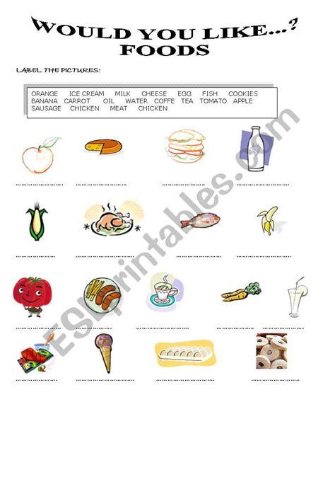 Would You Like Some Food  Esl Worksheet By Susana Ascencio