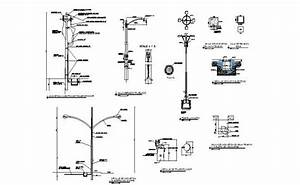Electrical Light Poles Of Hospital Elevation And