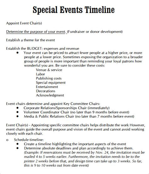 event timeline template 10 event timeline templates for free sle templates