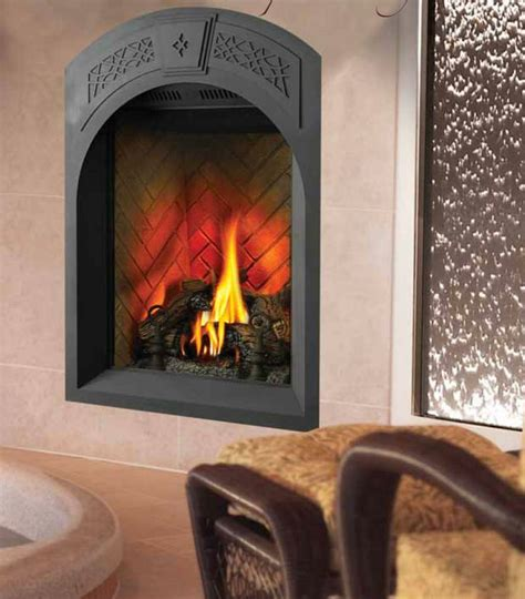 direct vent fireplace   small space transitional