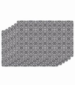 Set De Table Design : set de table design carreaux de ciment en vinyle noir set de 6 ~ Teatrodelosmanantiales.com Idées de Décoration