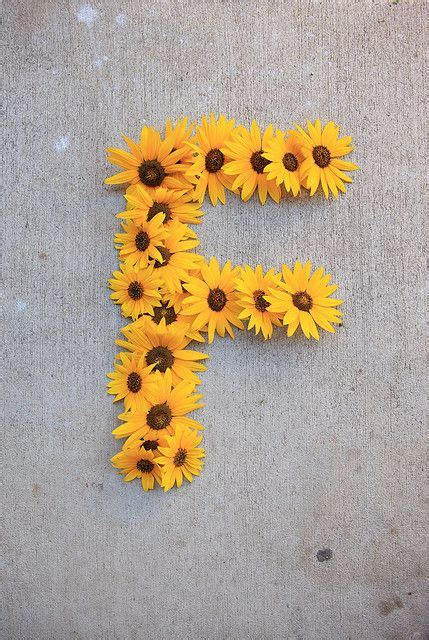 Letter F with Flowers