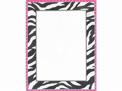 Zebra Border Printable Animal Borders Clipart Paper