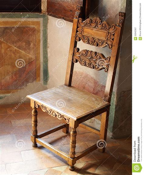 antique wooden chair villa stock photo image 55942307