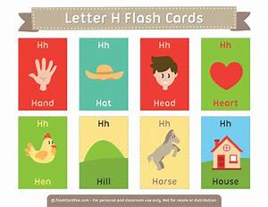 printable letter h flash cards With 2 letter words flash cards