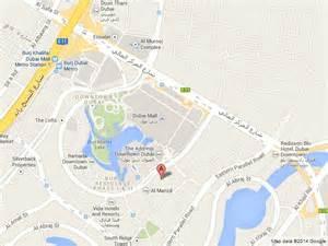 Hotel Downtown Dubai Map Location
