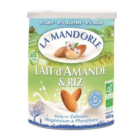 poudre de riz cuisine lait d 39 amande et riz bio en poudre 400g la mandorle