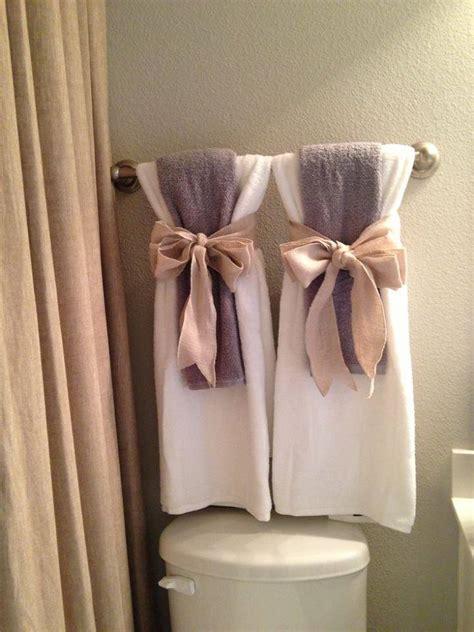 towels arrangement  bathrooms  guests xcitefunnet