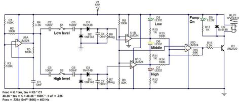 Sump Fill Pump Controller Circuit Diagram Design