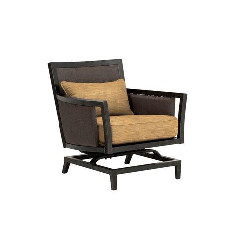 hton bay edington swivel rocker patio lounge chair with