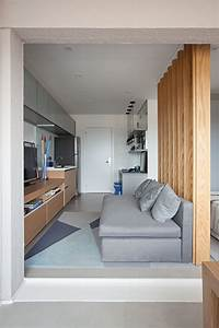 This, Small, Apartment, Makes, Efficient, Use, Of, Limited, Space, With, Thoughtful, Interior, Design