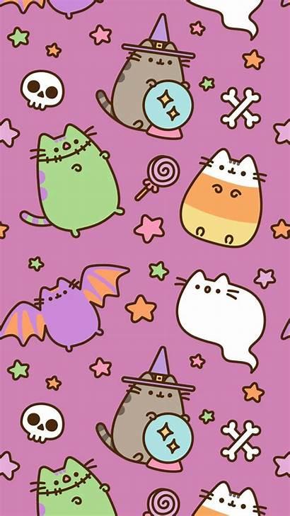 Pusheen Halloween Wallpapers Kawaii