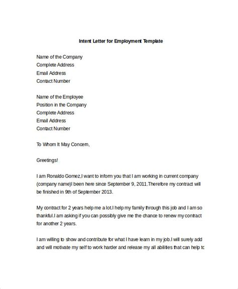 letter  intention  cover letter
