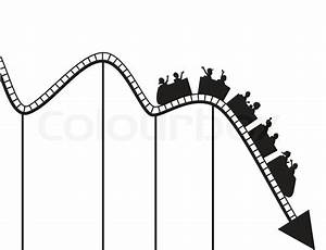 Roller coaster graph | Stock Vector | Colourbox