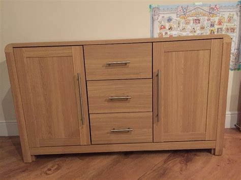 Strand Sideboard by Hygena Strand Oak Sideboard Excellent Condition Homebase