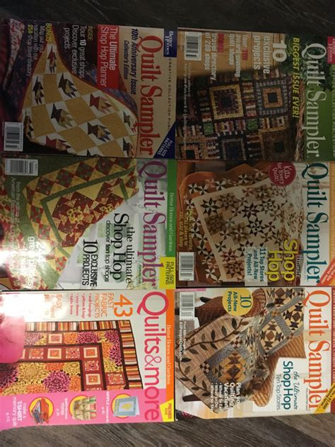 5 quilt sler magazines and 1 quilts and more magazine