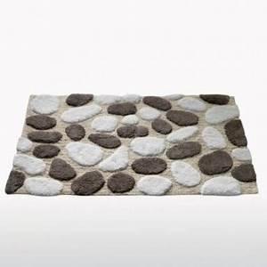 tapis de salle de bain antiderapants en bambou avec With tapis de bain galets