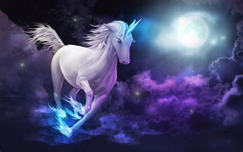 Black Lock Screen Unicorn Wallpaper by Unicorn Galloping Sky Clouds Moon Desktop Wallpaper