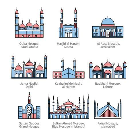 royalty  delhi jama masjid mosque clip art vector