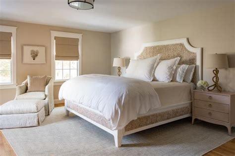 neutral coastal bedroom  seagrass bed frame hgtv
