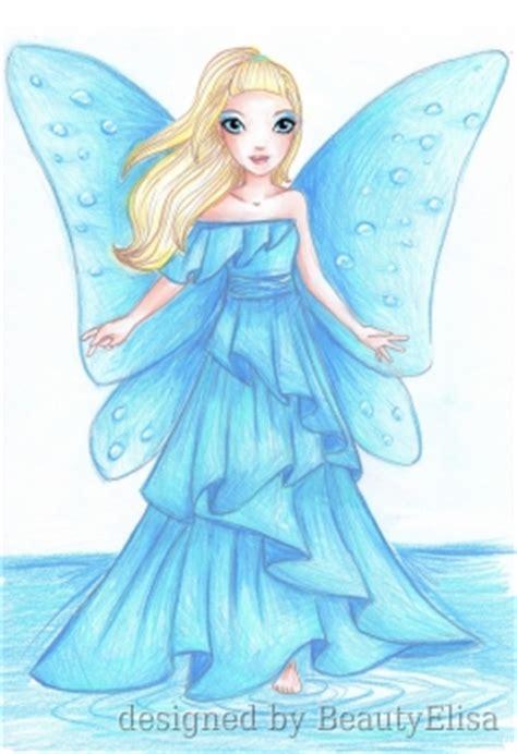 water fairy  lunar design drawn  beautyelisa