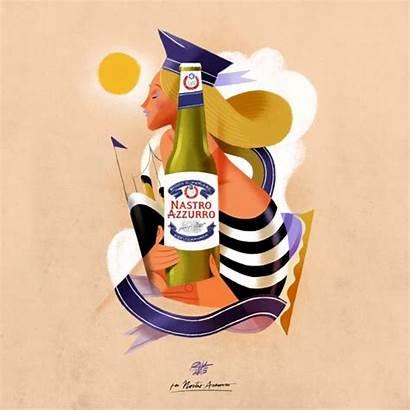 Nastro Azzurro Beer Peroni Guasco Riccardo Retro