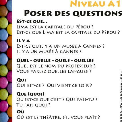 139 best fle la phrase interrogative images on language and
