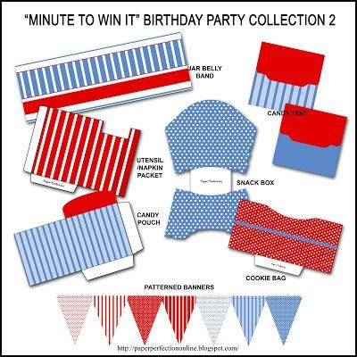 """Ultimate minute to win it party supplies includes tons of printable items such as. Free """"Minute to Win It"""" Birthday Party Invitation ..."""
