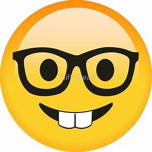 """"""" Funny Kids Smart Nerdy Emoji - Gift Idea for Women Men"""