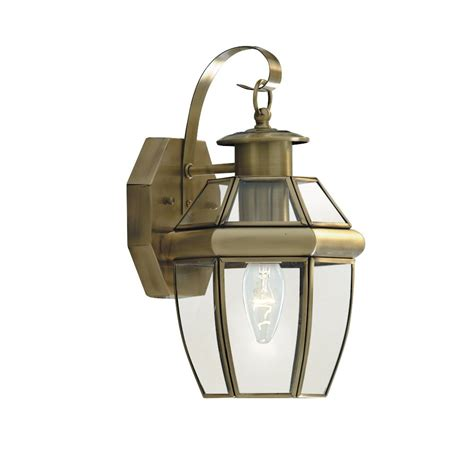 searchlight electric genoa 8067ab brass with clear glass