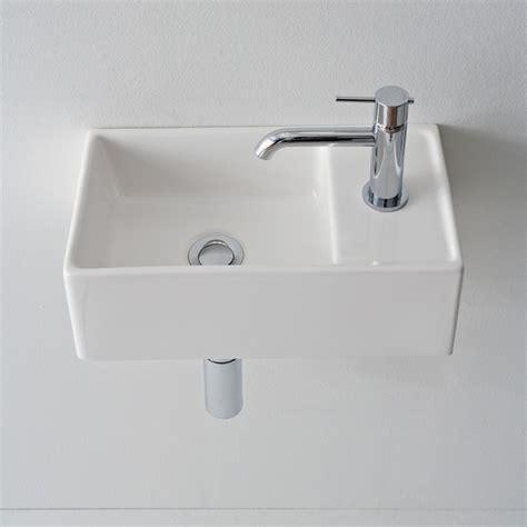 Modern Wall Mount Bathroom Sinks by Compact Wall Mount Sink Home Garden Design