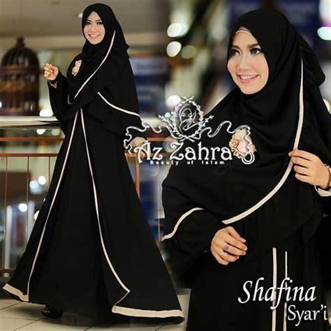 adresia dress shafina black baju muslim gamis modern