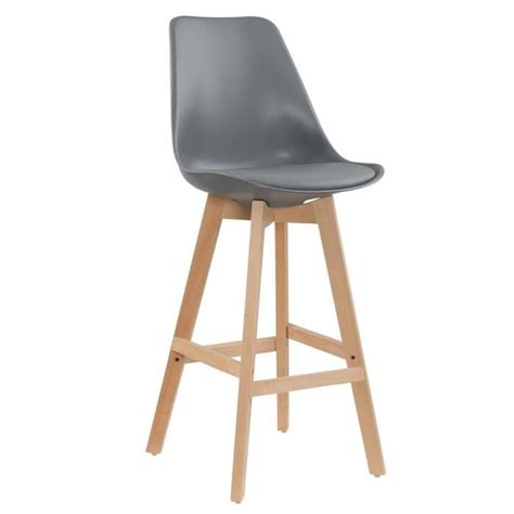 chaise de plan de travail lot de 2 tabourets de bar scandinave gris gala achat