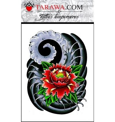 tatouage ephemere fleur de lotus japonaise tarawa