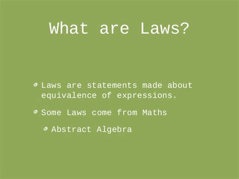 Introduction To Laws